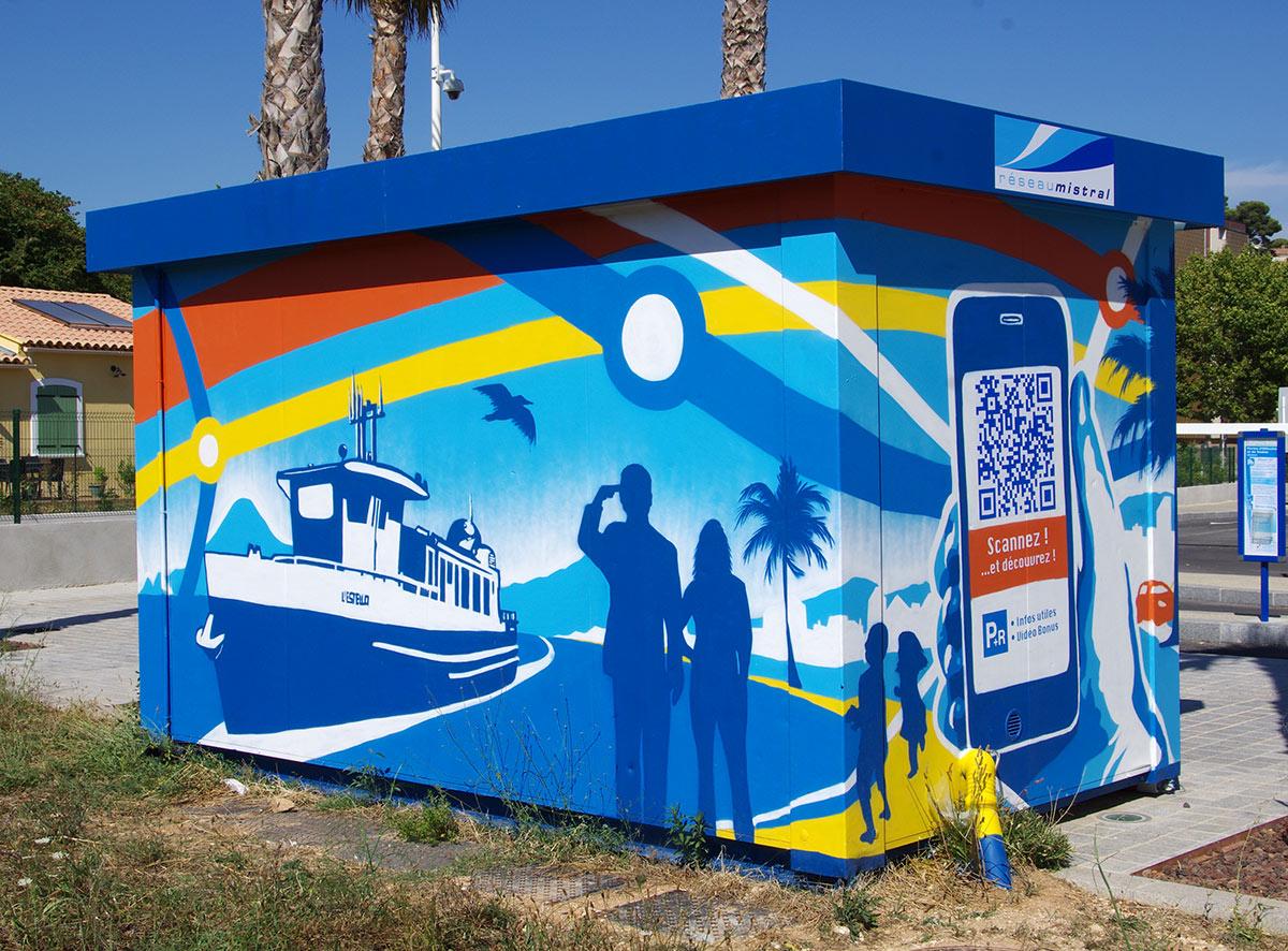 Fresque Street Art interactive connectée Toulon Marseille PACA