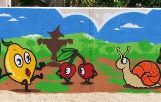Fresque citoyenne à l'école maternelle Var 83