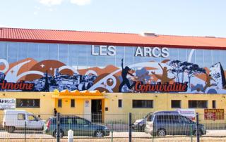 Street Art fresque communication - Les Arcs sur Argens - Salle Polyvalente