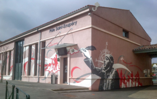 Street Art fresque communication - Médiathèque - Le Beausset