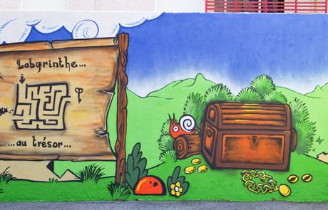Street Art connecté - interactif Ecole maternelle Var 83 Toulon La Londe les Maures