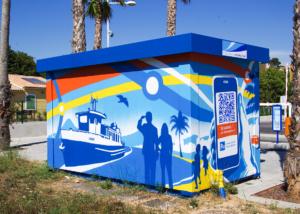 fresque interactive Parking Relais - Toulon