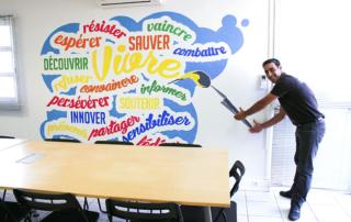 Street Art participatif Toulon Marseille Nice - atelier - Valeurs communes