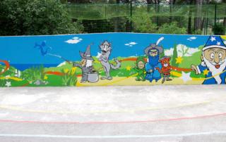 Street Art participatif Toulon Marseille Nice - atelier - Le Revest Les Eaux - École primaire La Salvate